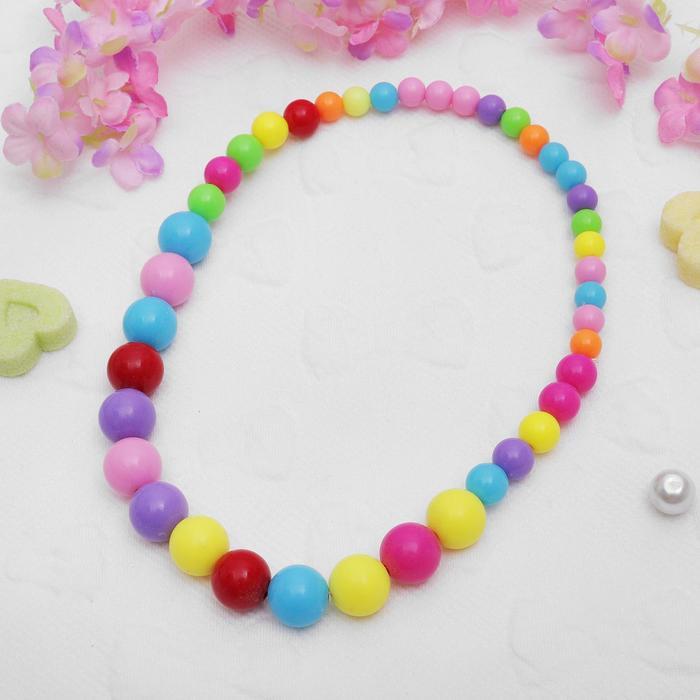 Бусы детские Выбражулька шарики, цветные