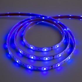 Светодиодная лента 12В, SMD5050, 5 м, IP68, 30 LED, 7.2 Вт/м, 14-16 Лм/1 LED, DC, СИНИЙ