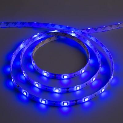 Светодиодная лента 12В, SMD5050, 5 м, IP65, 30 LED, 7.2 Вт/м, 14-16 Лм/1 LED, DC, СИНИЙ