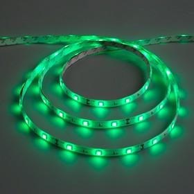 Светодиодная лента 12В, SMD5050, 5 м, IP65, 30 LED, 7.2 Вт/м, 14-16 Лм/1 LED, DC, ЗЕЛЁНЫЙ