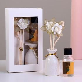 Подарочный набор с аромамаслом 15 мл 'Ваза с цветком', аромат сандал Ош