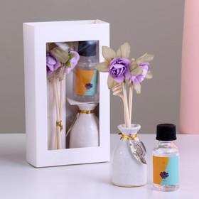 Подарочный набор с аромамаслом 15 мл 'Ваза с цветком', аромат лаванда Ош