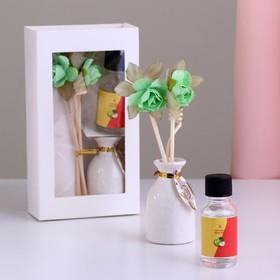 Подарочный набор с аромамаслом 15 мл 'Ваза с цветком', аромат яблоко Ош