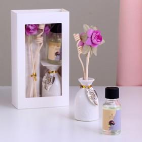 Подарочный набор с аромамаслом 15 мл 'Ваза с цветком', аромат фиалка Ош