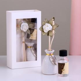 Подарочный набор с аромамаслом 15 мл 'Ваза с цветком', аромат ваниль Ош