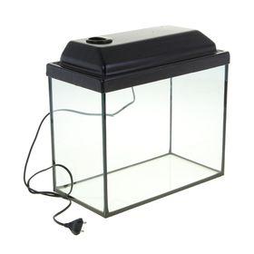 Аквариум прямоугольный с крышкой, 20 литров, 36 х 19 х 29/34,5 см, венге