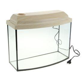Аквариум телевизор с крышкой, 30 литров, 46 х 20 х 33/38,5 см, беленый дуб
