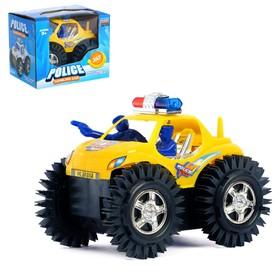 Машина-перевёртыш «Полиция», работает от батареек, цвета МИКС