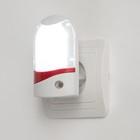 Ночник с датчиком освещенности, 4_LED х 1 Вт, 9 см B (220В) пластик МИКС - Фото 2