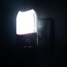 Ночник с датчиком освещенности, 4_LED х 1 Вт, 9 см B (220В) пластик МИКС - Фото 3