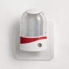 Ночник с датчиком освещенности, 4_LED х 1 Вт, 9 см B (220В) пластик МИКС - Фото 4