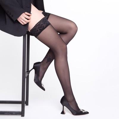 Чулки MALEMI Nimfa 40 цвет чёрный (nero), р-р 2 - Фото 1