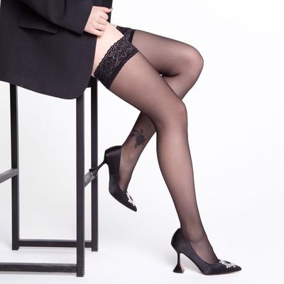 Чулки MALEMI Ninfa 20 цвет чёрный (nero), р-р 3 - Фото 1