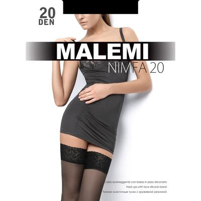 Чулки MALEMI Nimfa 20 цвет чёрный (nero), р-р 2