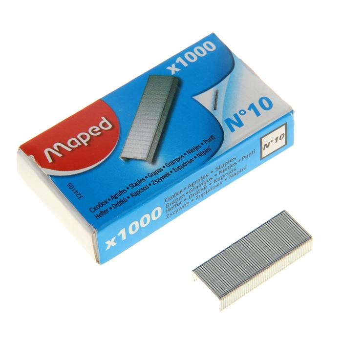 Скобы для степлера №10 Maped Standard никелированные, 1000 штук