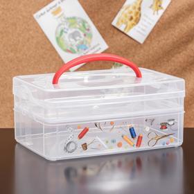 Контейнер универсальный econova Multi box, 2 секции, рисунок МИКС Ош