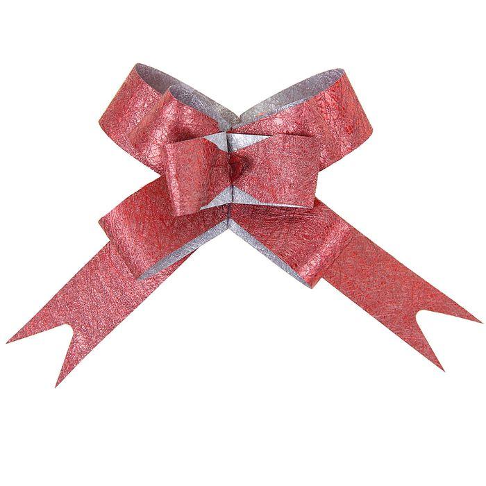 Бант-бабочка 1,2 Фактура, цвет бордовый