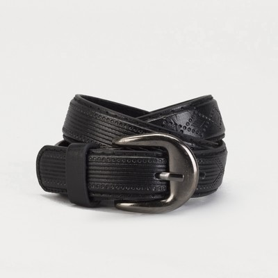 Ремень детский, винт, пряжка под металл, ширина - 2см, 70-90 см, цвет чёрный