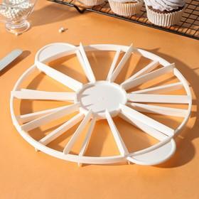 Делитель для торта пластиковый 10/12 частей 26,5 см, цвет МИКС Ош