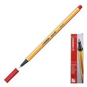 Ручка капиллярная Stabilo point 88, 0.4 мм, чернила красные 88/40 Ош