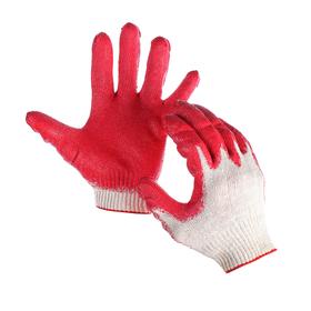Перчатки, х/б, вязка 13 класс, 4 нити, размер 10, с латексным обливом