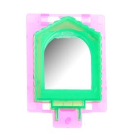 Игрушка для птиц зеркало микс цветов Ош