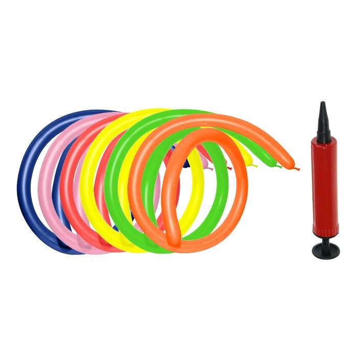Шар для моделирования 160, набор 18 шт., насос + инструкция, цвета МИКС