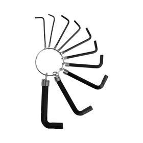 Набор ключей шестигранных на кольце TUNDRA, удлиненных, 1.5 - 10 мм, 10 шт. Ош