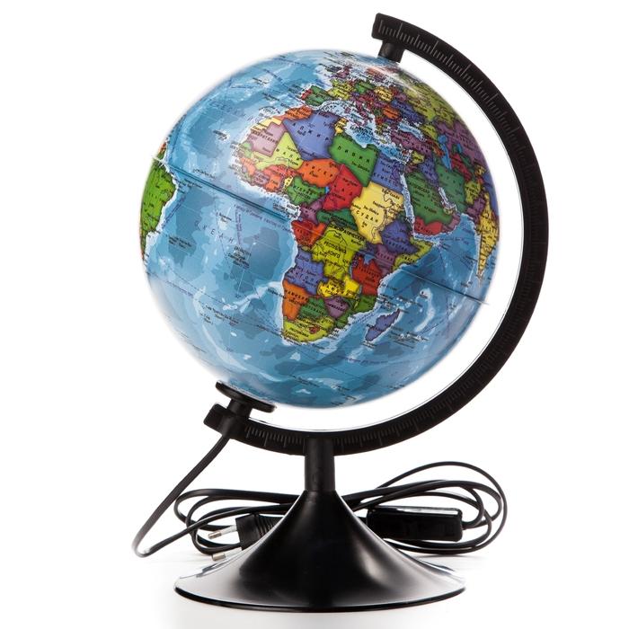 Глобус политический Классик, диаметр 210 мм, с подсветкой
