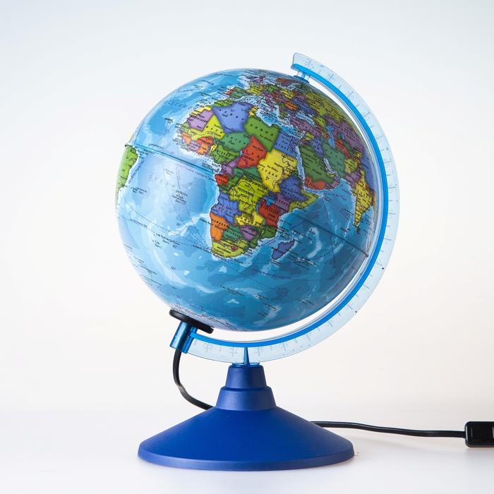 Глобус политический Классик Евро, диаметр 150 мм, с подсветкой