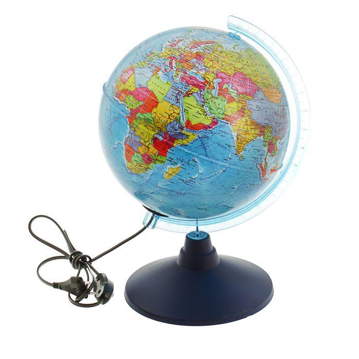 Глoбус политический Классик Евро, диаметр 210 мм, с подсветкой