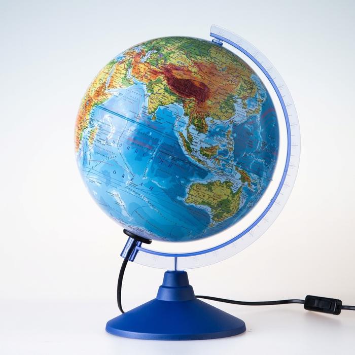 Глoбус физико-политический Классик Евро, диаметр 250 мм, с подсветкой