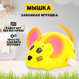 Игрушка заводная «Мышка», цвета МИКС Ош