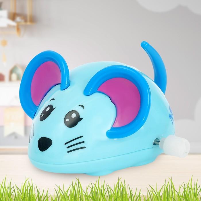 Заводная игрушка Мышка, цвета МИКС