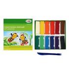 Пластилин мягкий (восковой) 12 цветов 180 г, «Гамма» «Пчелка»