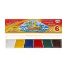 Акварель 6 цветов, «Гамма» «Мультики», в картонной коробке, без кисти