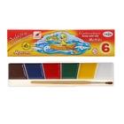 Акварель 6 цветов, «Гамма» «Мультики», в картонной коробке, с кистью