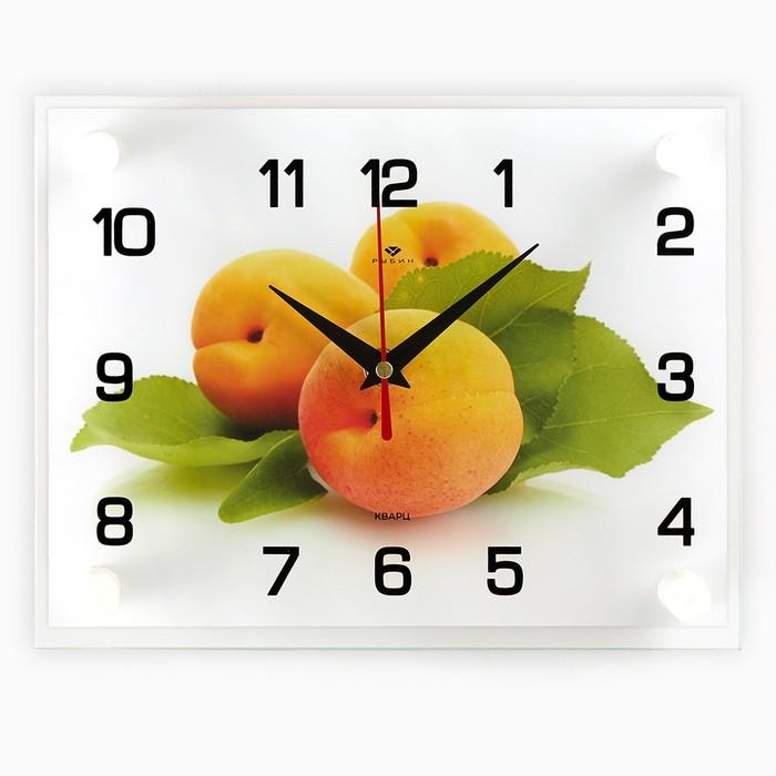"""Часы настенные, серия: Кухня, """"Персики"""", 20х26  см, микс"""