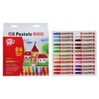 Пастель масляная, 24 цвета, в бумажном держателе, в картонной коробке