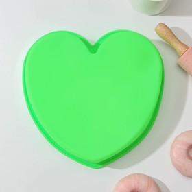 Форма для выпечки Доляна «Сердце», 24×23×4 см, цвет МИКС