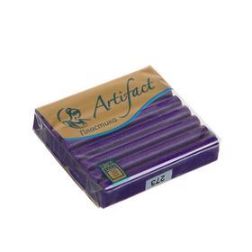 Пластика - полимерная глина 56г с блестками Фиолетовый Ош