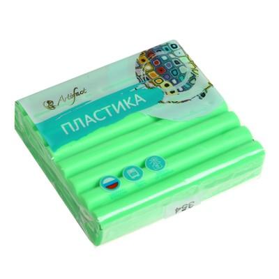 Пластика - полимерная глина 56г флуоресцентный Зеленый - Фото 1