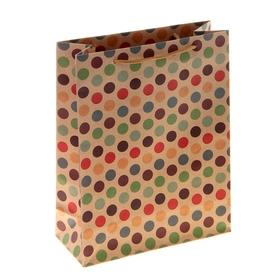 Пакет крафт 'Горошек', 12 х 5,5 х 15,5 см Ош