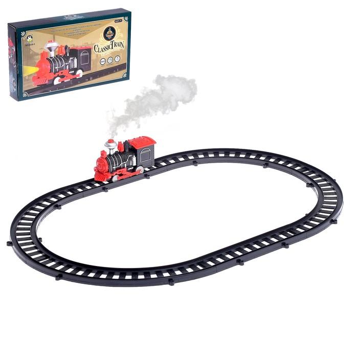 """Железная дорога """"Классический паровоз"""" со световыми эффектами, протяжённость пути 1,64 м"""