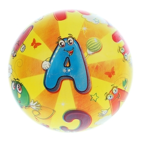 Мяч детский «Алфавит», d=22 см, 60 г