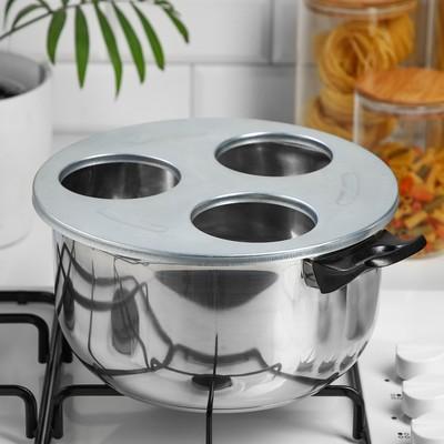 Приспособление для фиксации стеклянных банок при стерилизации, d (отверстия)= 82 мм - Фото 1