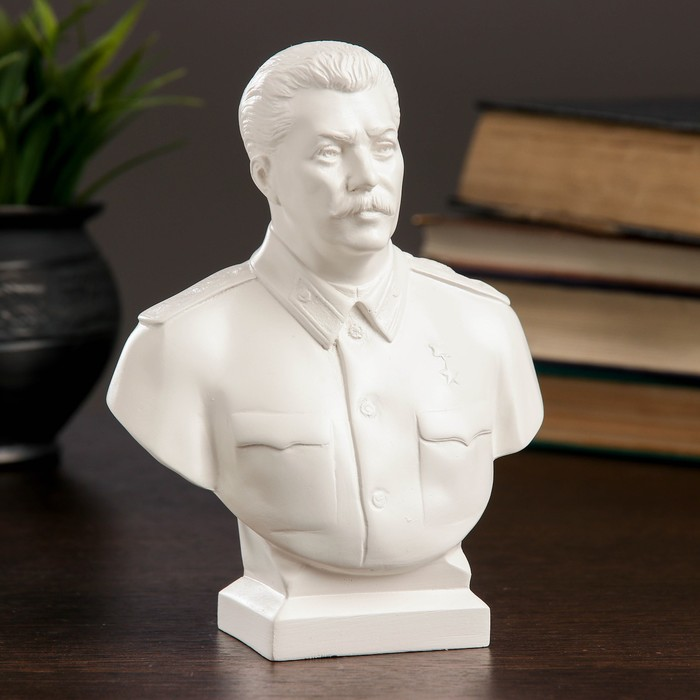 Бюст Сталин большой белый 7х12х16см