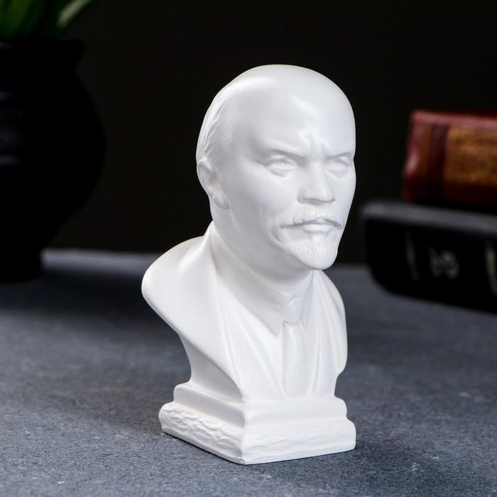 Бюст Ленин средний, белый 10см