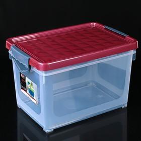 Контейнер для хранения с крышкой BranQ Systema, 19 л, 40×27×25 см, цвет МИКС