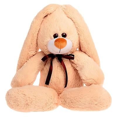 Мягкая игрушка «Заяц подарочный», цвет бежевый, 55 см - Фото 1